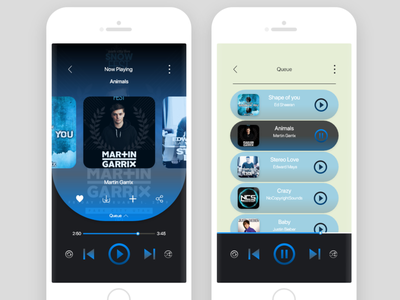 MusicApp player adobe xd music player music app ux ui mobile app
