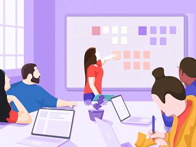 illustration-Discussion series 2 meeting discussion illustration design