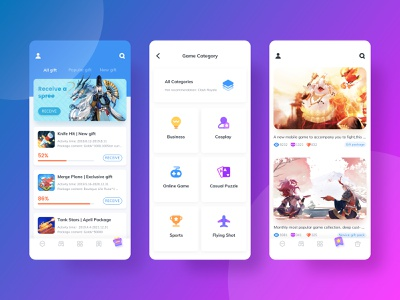 Game Center 2 mobile game android ios branding ux ui icon design