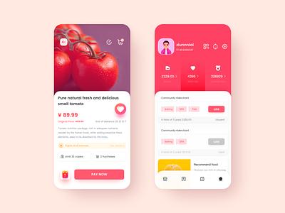 Petty life App heart design ios mobile icon ui