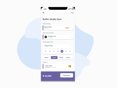 Gym Booking app