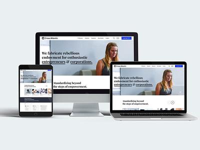 Cross Atlantic corporate web clean website design website branding flat design