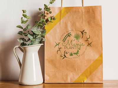Manju Plants vector logo design logo clean branding design