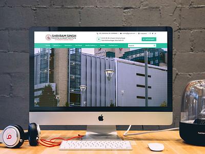 Shri Ram Singh Hospital & Heart Institute hospital wordpress theme website clean flat branding design