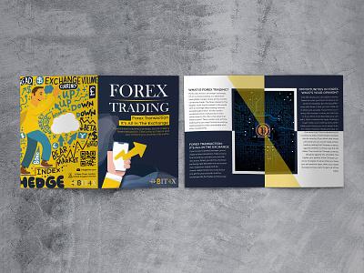 Bit4x branding clean forex trading trading brochure design