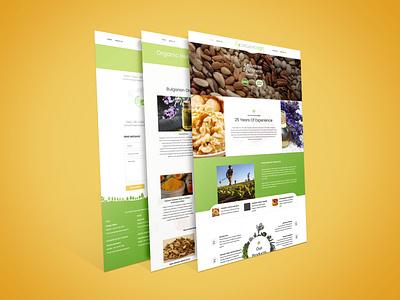 Organic Agri flat clean minimal wordpress design design branding