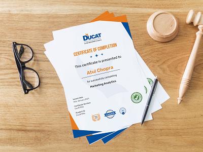 Certificate Design ui typography flat clean design branding