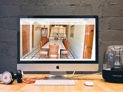 Bajaj Indian Home Stay website design ux website ui web typography clean flat design branding