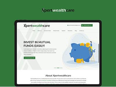 Xpertwealthcare ux ui website design website web typography clean flat design branding