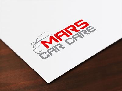 Mars Car Care logo design logodesign logo web typography clean flat design branding