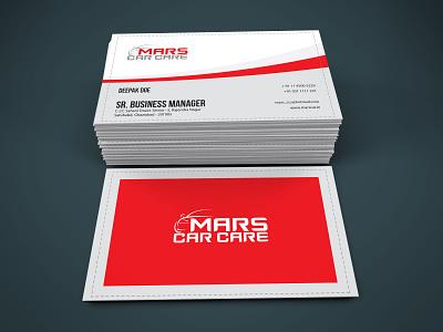 Mars Car Care business card design business card vector minimal typography clean flat design branding