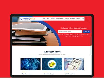 Mapping Skills website design ux website ui web typography clean flat design branding