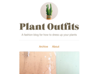 Plant Outfits Tumblr