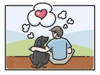 Best Friends - for Sammy love heart best friends friends dog illustration pet dog