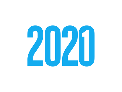 New Year is Coming type design negative space 2021 2020 numbers type