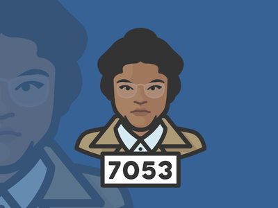 Rosa Parks avatar avatar icons white supremacy racism civil rights rosa parks person face avatar