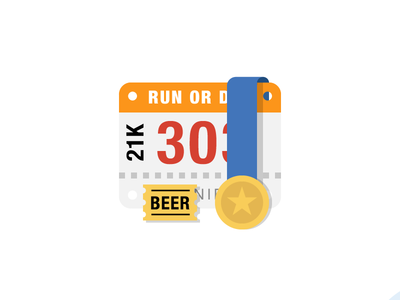 Race Bib with Medal