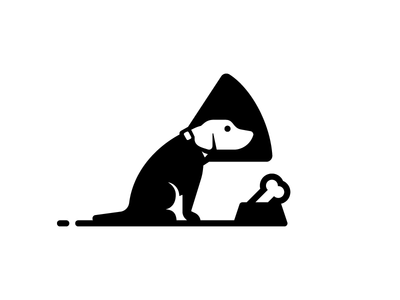 Dog In Cone (Glyph)