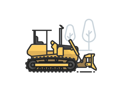 Bulldozer construction bulldozer heavy equipment earth mover