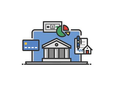 Online Banking laptop web browser finance banking