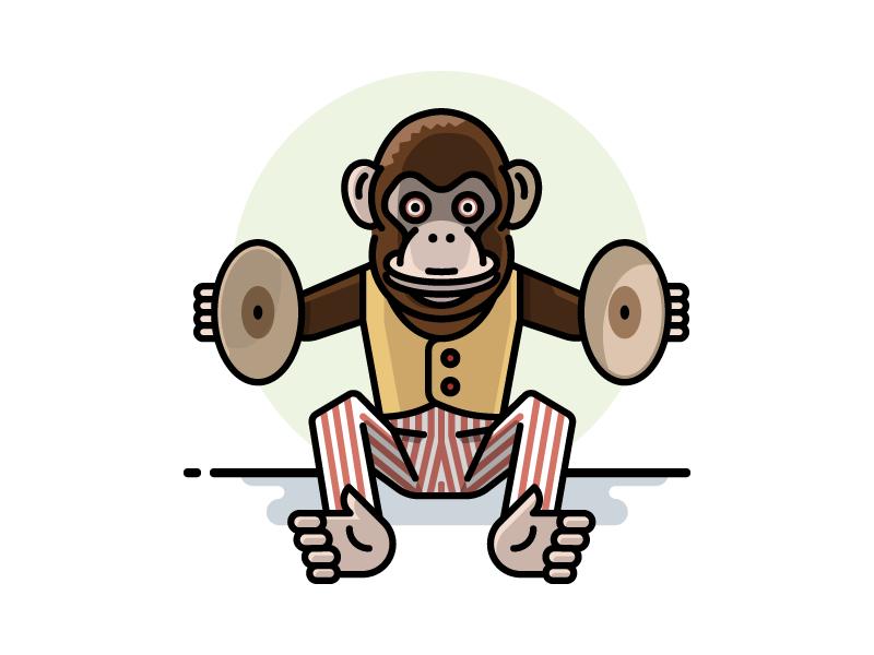 Cymbal Banging Monkey Toy By Scott Lewis Dribbble