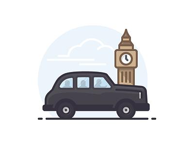 London Black Cab big ben taxi black cab united kingdom london