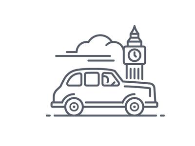 London Black Cab - Line