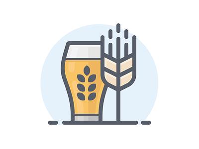 Beer with Barley illustration icon free download freebie beer icon craft beer barley beer