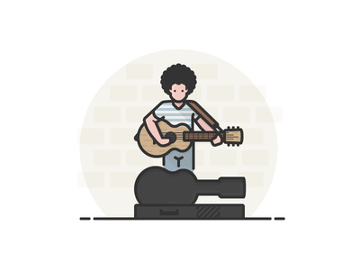 Street Musician with Guitar