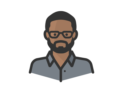 Black Man In Glasses beard person man avatar african american