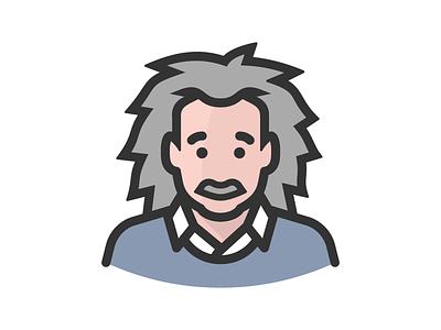 Albert einstein scientist science physicist head physics face person avatar einstein