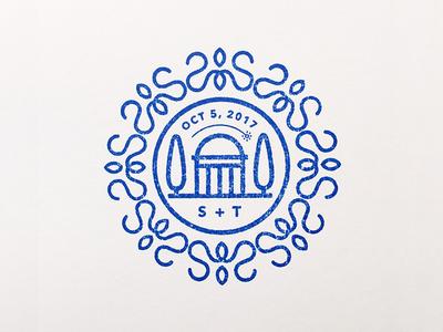 Wedding Emblem & Cards invitations rubber stamp stamp logo wedding