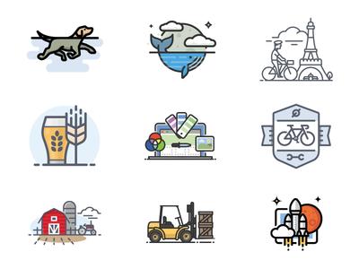 2017 Top Nine Shots mars launch forklift farm tractor barn bike laptop craft beer eiffel tower paris dog whale