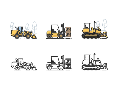 Heavy Equipment construction warehouse tools machines earth movers tractor heavy equipment bulldozer backhoe forklift