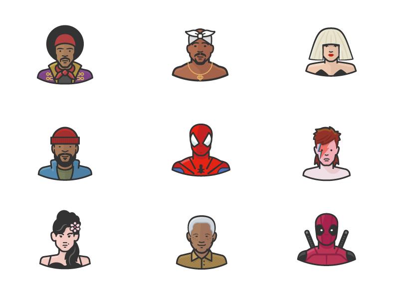 Diversity Avatars Vol. 3 super hero celebrity woman man people person face avatars