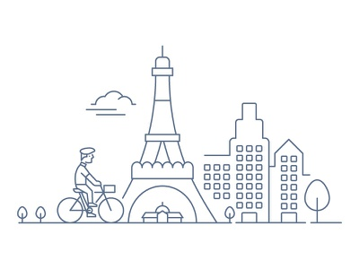 Panorama Challenge scenic city buildings paris france eiffel tower dog people panorama design challenge