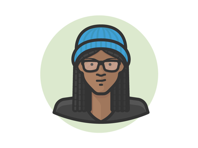 Girl in Knitted Cap people person black girl african american glasses female woman girl avatar
