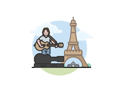 Busker in Paris