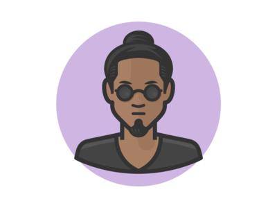 Beatnick top knot man bun sunglasses beatnick man face person avatar