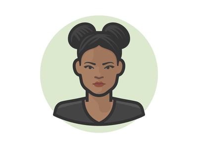 Beautiful Girl illustration woman person face avatar