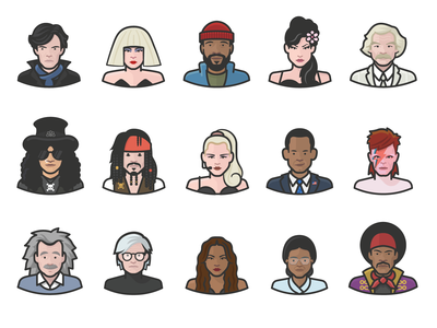 Diversity Avatars Celebrities Preview