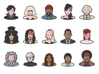 Diversity Avatars Celebrities Preview