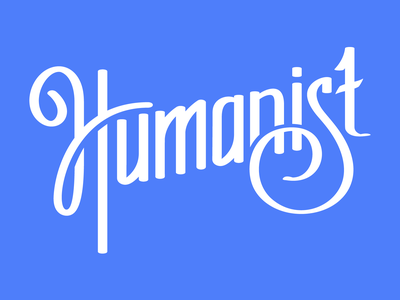 Humanist typography letter forms atheist secular humanism humanism humanist logotype hand-drawn type hand-drawn lettering type