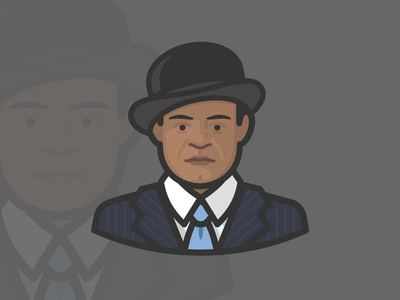 That's a Damn Nice Suit! head people man iconography avatar design avatar icons avatars tie suit pinstripe bowler hat african american human face person illustration icon avatar