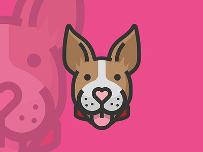 Pit Bull Terrier doggy dog logo avatar icon dog icon dog avatar dog illustration dogs pets pet canine dog