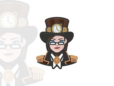 Steampunk Girl Avatar user profile face human person people avatar icons avatar icon avatar design avatar