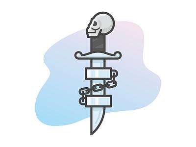 Skull Dagger with Shackles russian prison tattoo prison tattoo prison russian tattoo shackles dagger skull
