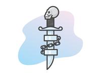 Skull Dagger with Shackles