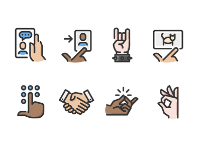 Hand Gestures Color
