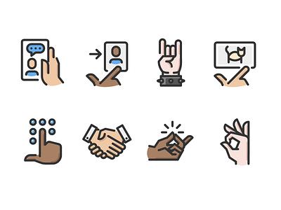 Hand Gestures Color touch screen hands gestures hand